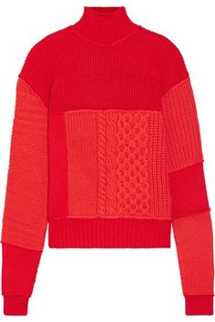 McQ Alexander McQueen - Wool And Cashmere-blend Turtleneck Sweater - Red