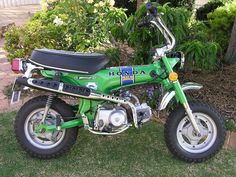 "Honda Trail 70 cc . This was my first ""motorcycle"". Even the same color! I loved going riding as an early teenager in the 1970's!"