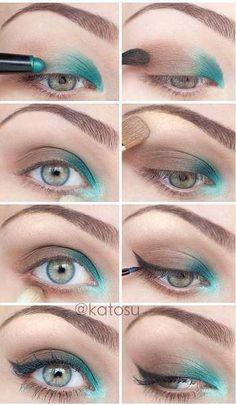 El utilizar una sombra del color de tus ojos, producirá un efecto de realce para los mismos.