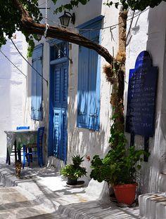Amorgos, Greece The colors, love it. Santorini, Mykonos Greece, Beautiful Islands, Beautiful World, Beautiful Places, Amazing Places, Greek Blue, Greece Travel, Crete