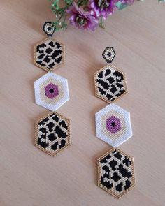 Beaded Earrings, Beaded Jewelry, Crochet Earrings, Drop Earrings, Brick Stitch, Bead Weaving, Seed Beads, Jewelry Making, Loom Bracelets