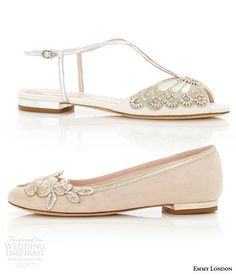 Awesome Emmy London Flat Wedding Shoes Low Heel Bridal Shoes Carine Blush Ballet  Flats Jude Sandal