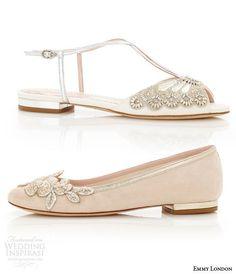 emmy london flat wedding shoes low heel bridal shoes carine blush ballet flats jude sandal