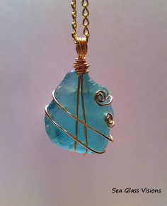 I started by doing an online search about how to wire wrap sea glass. There are lots of different instructional videos on you tube.