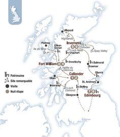 Circuit voiture en Écosse - Brittany Ferries