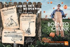Punkin' Chunkin' by Alison Yard Medland, via Behance