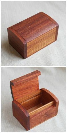 Mini Rosewood Storage Box Jewelry Chest Medicine by iWoodShop Small Woodworking Projects, Woodworking Box, Wooden Projects, Wood Crafts, Woodworking Classes, Woodworking Basics, Wooden Box Designs, Jewelry Chest, Wooden Jewelry Boxes