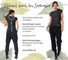 chino hose 3Elfen, coole Hose Elf, Cooler Look, Shirts, Magic, Urban, Shoulder, Fashion Women, Trousers, Fairy