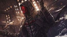 Redhood (the batman:arkham knight), Ren Wei Pan on ArtStation at https://www.artstation.com/artwork/NKaLb
