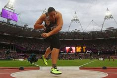 NZ's Valerie Adams competes in the women's shot put final at the London 2012 Olympic Games. AND WINS GOLD!!!!!