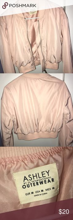 Fashion Nova Bomber Jacket It's slightly cropped, good for cold and warm weather. I've worn it literally once then realized it wasn't my style, perfect condition!! Fashion Nova Jackets & Coats