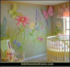 baby nursery decorated with fairies | baby+nursery+garden+themed+decorating+ideas-baby+nursery+garden+themed ...