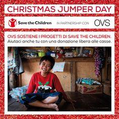 OVS sostiene Save the Children Italia per il   ChristmasJumperDay! Questa  sera alle 20.00 8427e5d1d62