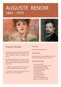 Auguste Renoir Info Sheet