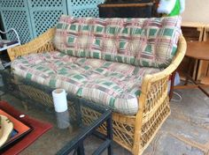 Well made perfect couch and a must see the chairs that go with it all priced separately and tables and more and the best browse you will ever see and we love our decor and so sure you will too!