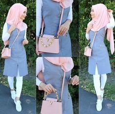 Anzeige l Werbung. Modest Fashion Hijab, Modern Hijab Fashion, Muslim Women Fashion, Islamic Fashion, Hajib Fashion, Fashion Outfits, Hijab Outfit, Hijab Mode Inspiration, Abaya Mode