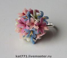 кольцо ВЕСНА - авторское украшение,украшения из полимерной,Холодный фарфор