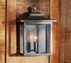 Classic Indoor/Outdoor Sconce, Set Of 2, Bronze Finish At Pottery Barn    Lighting   Sconces