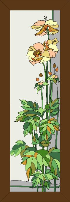 Дверь с цветком | Vitrajmaterial | Интернет-магазин материалов для витражей