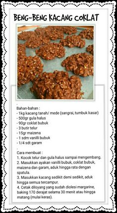 Sweets Recipes, Cookie Recipes, Snack Recipes, Snacks, Biscuit Cookies, Yummy Cookies, Resep Cake, Delicious Desserts, Yummy Food