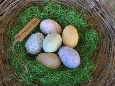 Primitive Pastel Fabric Easter Eggs Set of 6 with by fisheyeprims, $10.00