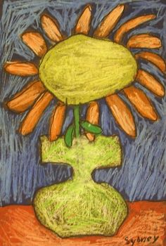 Oil Pastel Still Life Inspired by Vincent Van Gogh | TeachKidsArt