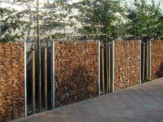 clôture de jardin design bois métal déco plante
