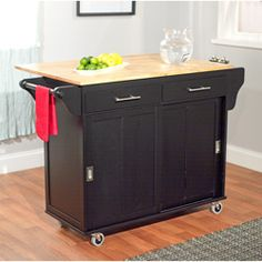 Simple Living Wooden Drop Leaf and Sliding Doors Kitchen Cart - Overstock™ Shopping - Big Discounts on Simple Living Buffets