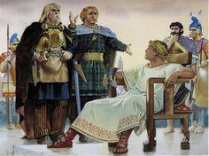 Angus Mc Bride - Alejandro Magno se entrevista con unos jefes celtas