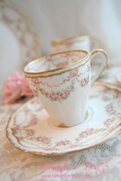 pretty pink teacup