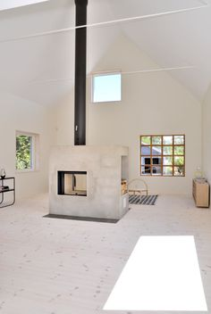 9 Abundant Simple Ideas: Fireplace Hearth With Built Ins fireplace living room heart.Old Concrete Fireplace fireplace garden cabin. Fireplace Update, Fake Fireplace, Fireplace Shelves, Concrete Fireplace, Rustic Fireplaces, Fireplace Remodel, Fireplace Surrounds, Craftsman Fireplace, Fireplace Cover