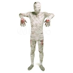 >> Click to Buy << High Quality Halloween Adult Mens Mummy Costumes Male Skull Cosplay Costume Men Zentai Lycra Spandex Mummy Full Bodysuit Costume #Affiliate