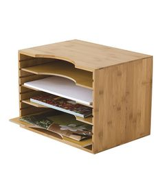 Another great find on #zulily! Bamboo File Organizer by Lipper International #zulilyfinds