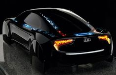 Cool concept, but ummmm maybe in a few years...Audi OLED Tron concept car