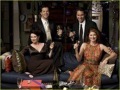 Eric McCormack, Debra Messing, Sean Hayes, Megan Mullally ~ Will & Grace ~ Publicity Photos ~ Season 8, Finale