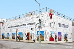 Delta Helps New Yorkers Boost Their Tinder Profiles With a Mural of Exotic Backdrops - Print (video) - Creativity Online