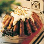 Plum Pudding with Supreme Sauce - Plum pudding, sometimes called 'plum duff', is a steamed pudding traditionally served in England on Christmas day. This version accompanies the pudding with a sweet and creamy supreme sauce rather than the more traditional 'hard' sauce made with brandy or bourbon.