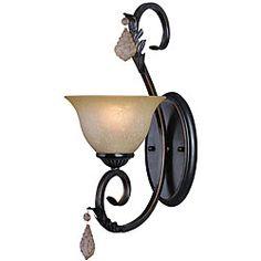 @Overstock - Setting: Indoor  Fixture finish: Colonial bronze  Number of lights: 1   http://www.overstock.com/Home-Garden/Woodbridge-Lighting-Firenza-1-light-Colonial-Bronze-Bath-Sconce/6223742/product.html?CID=214117 $63.00