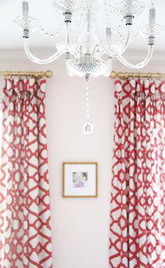guest room, colorful, lattice drapes, framebridge