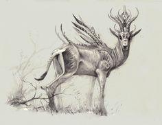 The Grant's Gazelle from an alternate dimension, Bobby Rebholz on ArtStation at https://www.artstation.com/artwork/DE8kn