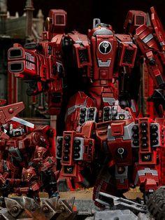 Tau Warhammer, Warhammer 40k Figures, Tau Army, Tau Empire, Far Future, Fantasy Miniatures, Space Marine, War Machine, Colour Schemes