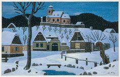 Josef Lada (December Hrusice - 14 December Prague) was a Czech painter, illustrator and writer. Grandma Moses, Henri Rousseau, Naive Art, Children's Book Illustration, Illustrators, Folk Art, Cool Pictures, Around The Worlds, Landscape
