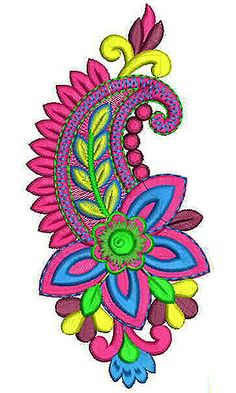 Shiny Thread Striped Applique Embroidery Design