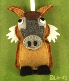 Felt goat.  Another goat ornament I will have to pattern out and make from my Christmas Tree.