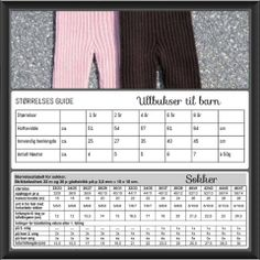 Størrelser ullbukser og sokker til barn Children, Kids, Barn, Knitting, Crochet, Baby Baby, Crochet Hooks, Boys, Boys