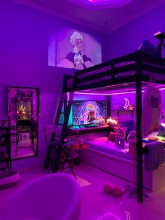Cute Bedroom Ideas, Cute Room Decor, Room Ideas Bedroom, Teen Room Decor, Awesome Bedrooms, Cool Rooms, My New Room, My Room, Neon Room