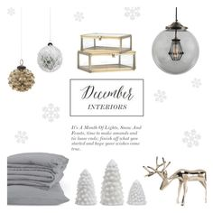 """December Wishes - Interior Decor"" by rachaelselina ❤ liked on Polyvore featuring interior, interiors, interior design, home, home decor, interior decorating, Shishi and H&M"