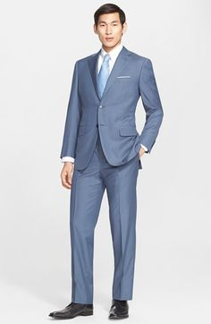 Canali Classic Fit Check Wool Suit available at #Nordstrom