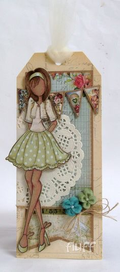 Great idea for a business card/tag My Mum's Craft Shop: Bolero Sweater Doll Prima Paper Dolls, Prima Doll Stamps, Card Tags, Gift Tags, Doll Crafts, Paper Crafts, Origami, Paper Tags, Artist Trading Cards