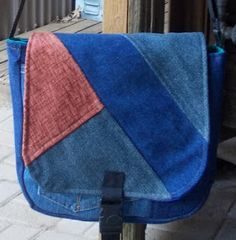 Flap of Messenger Bag from Recycled Denim Satchel, Crossbody Bag, Sewing To Sell, Recycled Denim, My Fb, Custom Bags, Messenger Bags, Zipper Pouch, Pouches